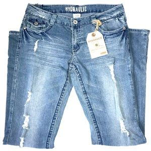 Hydraulic Jeans - NWT Hydraulic Boot Cut Jeans Distressed Size 13/14